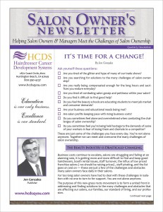 Salon Owners Newsletter